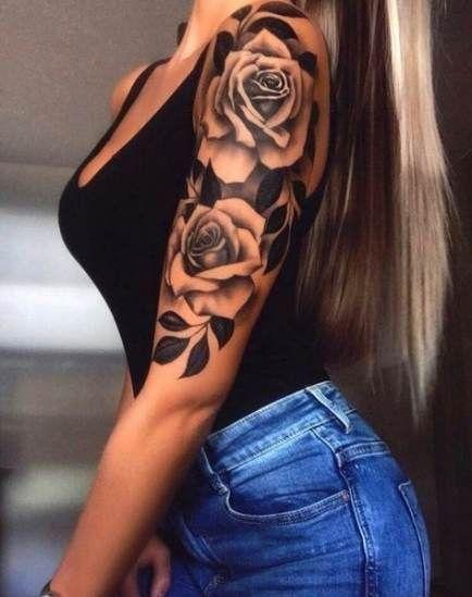 Frau tattoo rosen unterarm ▷ 1001+Unterarm