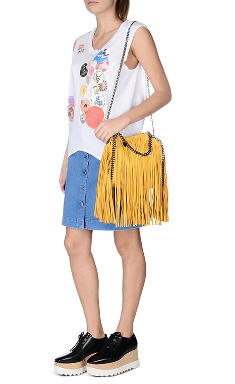 171a723781 FALABELLA SHAGGY DEER FRINGED MINI TOTE from Stella McCartney SS16 ...