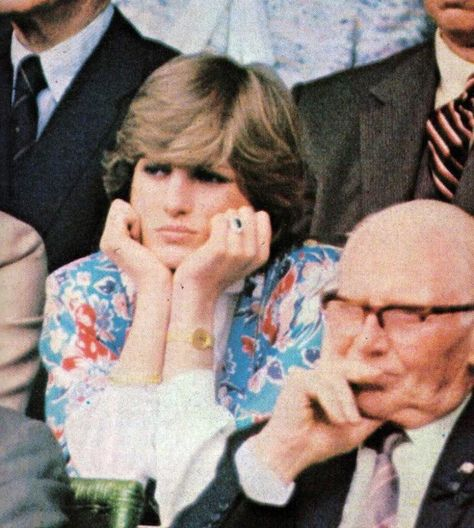 Diana at Wimbledon shortly before her marriage July 1981. Diana, like Kate, was a huge tennis fan