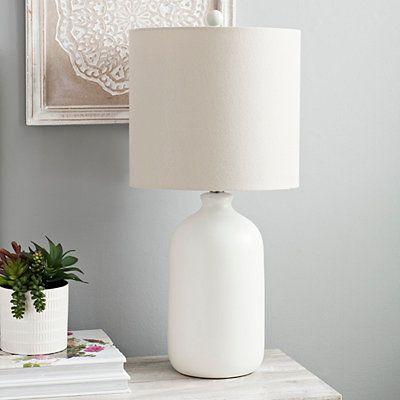 Matte Cream Jug Table Lamp In 2020 White Table Lamp Table Lamp Black Table Lamps