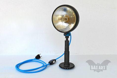 Awe Inspiring Vintage Desk Lamp Vintage Car Headlight Lighting Fixture Cyan Wiring Database Liteviha4X4Andersnl