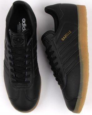 Adidas Gazelle Trainers Black Leather
