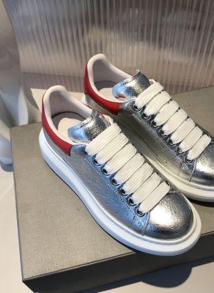 Alexander Mcqueen Sneakers Silver Zapatos