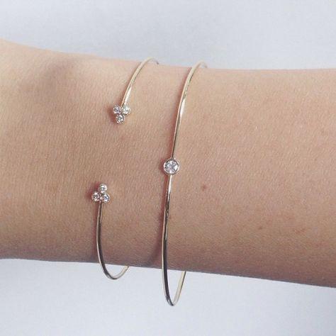 #bracelets #open #indigo #bangle #diamond #14k #gold #valejewelry