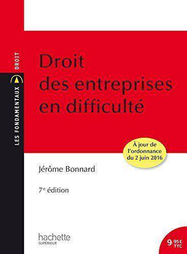 Droit Des Entreprises En Difficulte 7eme Edition En Ligne Livre Numerique Gestion Immobiliere Droit