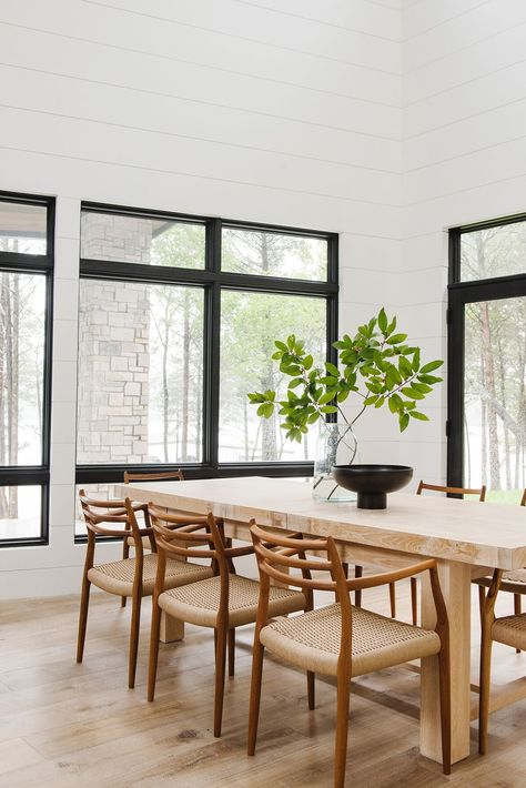 Incredible Modern Cabin On The Lake Photo Tour Dining Room Design Frankydiablos Diy Chair Ideas Frankydiabloscom