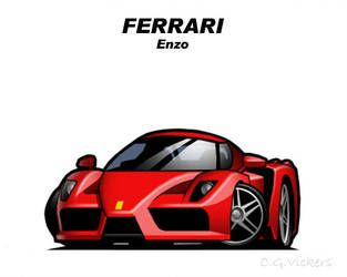 Chibi Ferrari Enzo By Cgvickers With Images Car Cartoon