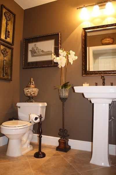 powder bath traditional powder room miami christina de armas i like the muted brown copper tones