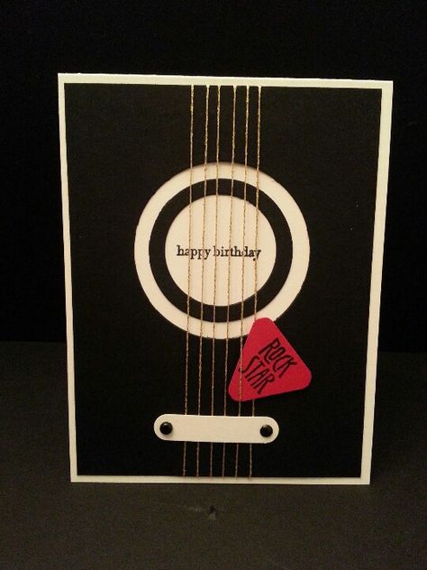 #SU Guitar punch art - great card