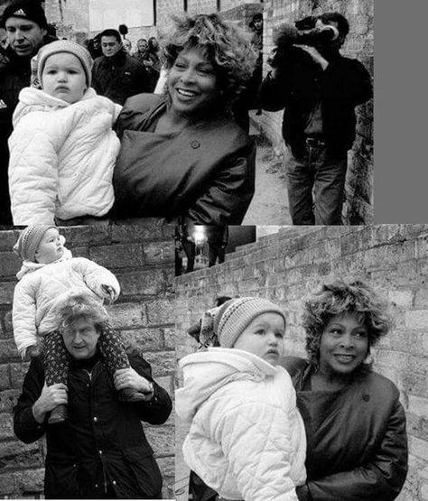 Tina Turner 1999 with Roger Davies' children