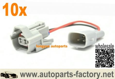 Fuel Injection Connectors FEMALE car injector plug NIPPON DENSO with cable