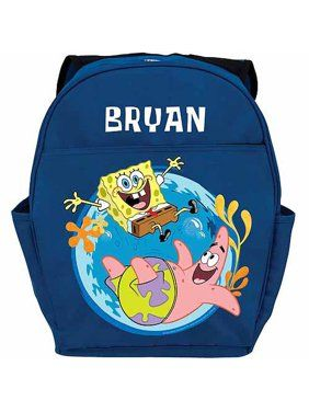 Any Name BOYS YOUTHS ADD YOUR LOGO OR DESIGN Gift PERSONALISED BACKPACK BAG
