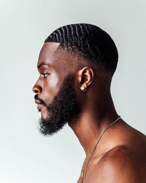 """The anatomy of the black man. Self portrait session. Waves Hairstyle Men, Waves Haircut, Black Men Haircuts, Black Men Hairstyles, Black Man Haircut Fade, Kid Hairstyles, Natural Hairstyles, Weave Hairstyles, 360 Waves Hair"