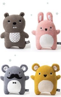 Noodoll knuffels via Gras onder je voeten love these cute kawaii little plushie toys easy to do design of beaver,bunny,hamster and super koala with a moustache