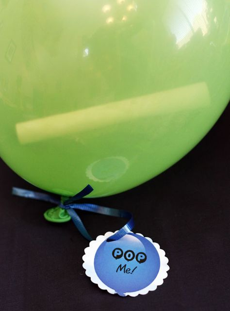 Invitation idea for a balloon party (or any party, really).