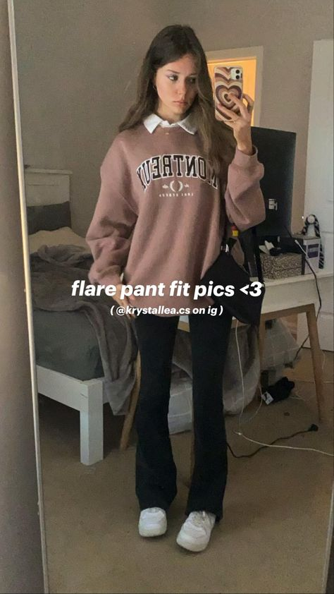flare pant fit pics <3 @krystallea.cs on ig
