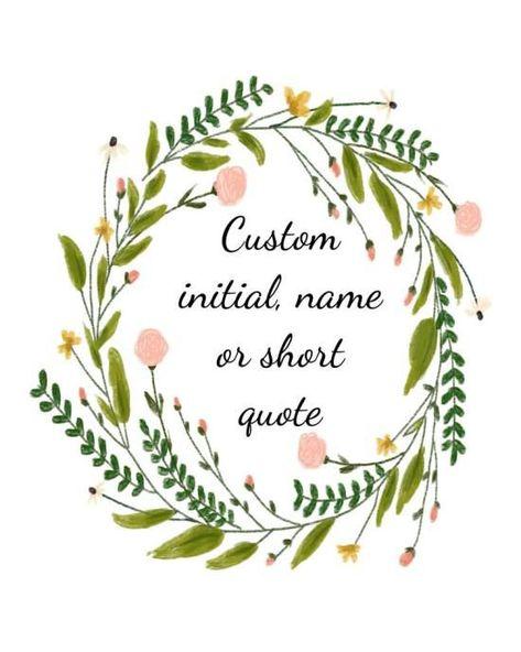 Customized name print, instant download printable art, 8 x 10 PDF - Wisdom Wit Quotes