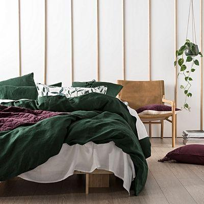 Mossy Road Cotton Velvet Quilt Cover Set By Vintage Design Homewares Zanui Quilt Cover Sets Hotel Bedroom Design Rustic Bedroom