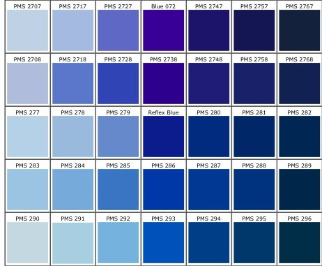 Pantone color #281 for my walls ) Projects I Color blue - sample pantone color chart