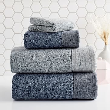 Stone Washed Linen Border Towels In 2020 Washed Linen Gray Towels Towel