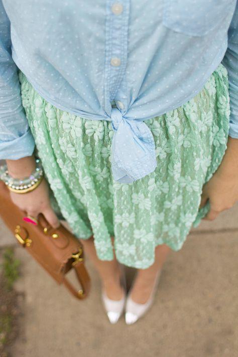 lace & polka dots via Kastles