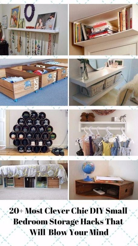 foto de 20 Clever Chic DIY Small Bedroom Storage Hacks That ll Blow Your ...