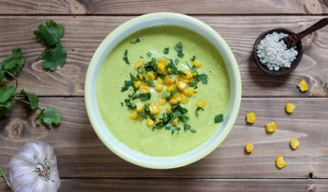 Chilled Corn and Avocado Soup Recipe - Le Pain Quotidien - Bakery & Communal Table
