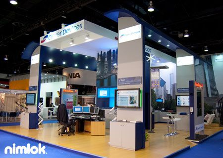 Nimlok specializes in trade show displays and technology trade