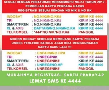 Cara Mudah Registrasi Kartu Prabayar Telkomsel Indosat Ooredoo Xl Axiata Tri Dan Smartfren Kartu Tulisan Tips