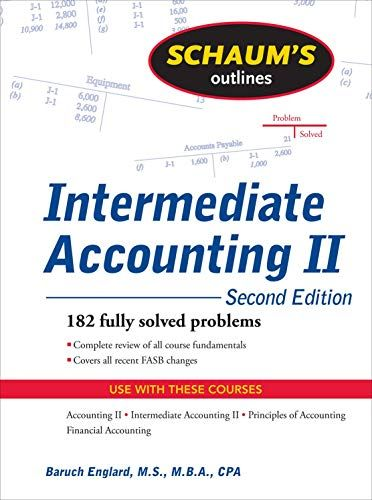 Ebooks Intermediate Accounting Ii Schaums Outline Of Pdf Free Download Read Books Online Intermediate In 2020 Bookkeeping And Accounting Outline Managerial Accounting