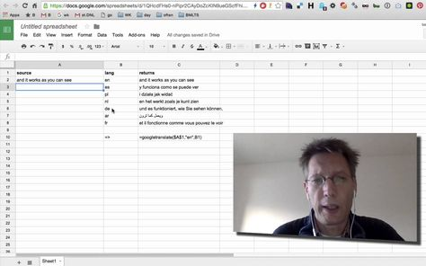BSOTD, using translate in google spreadsheets BSOTD (Bert