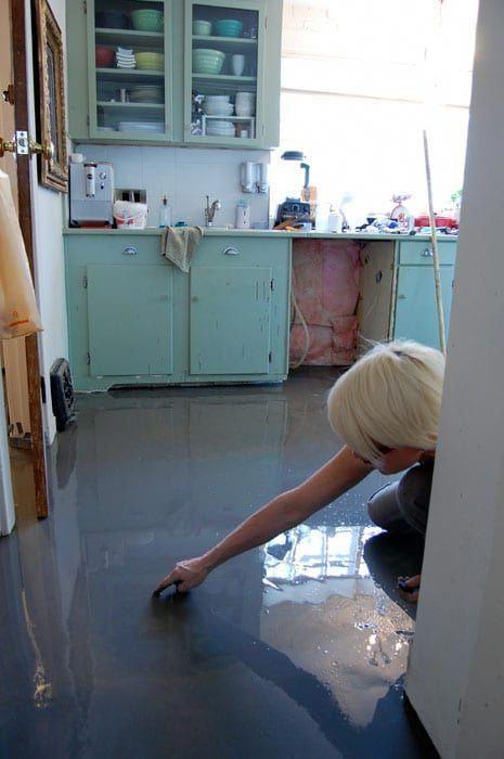 26 Trendy Epoxy Basement Floor Makeover Diy In 2020 Cement Floor Diy Concrete Floors Diy Diy Flooring