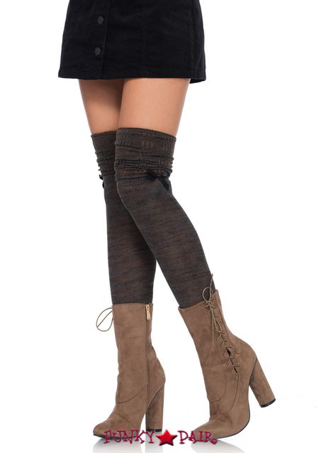 Aneco 6 Pair Woman Solid Color Thigh High Knee-high Stockings Long Socks Cosplay