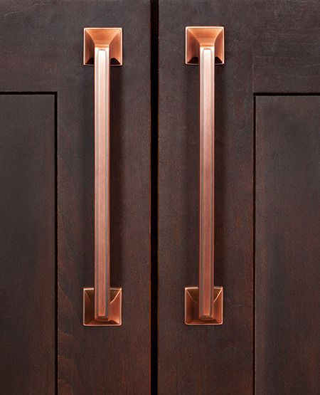 Find Out The Best Selection Of Drawer Pulls To 2019 Drawer Pulls Dark Brown Kitchen Cabinets Brown Kitchen Cabinets Copper Hardware Kitchen