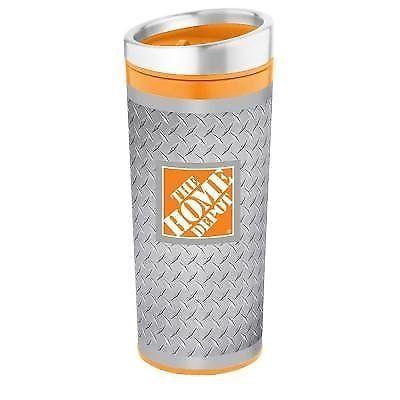 16 oz  Diamond Plate Stainless Steel Tumbler Mug Travel Cup