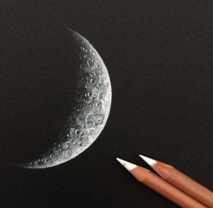 2a7926ada38db7d3800d0f3129ba9bc3 » Pencil Realistic Moon Drawing