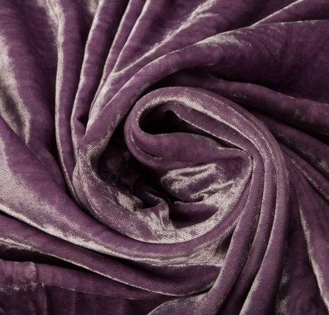 100% Rayon Velvet Purple Fabric