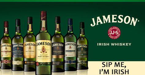 The Jameson Irish whiskey family