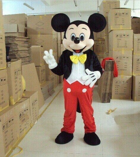 Hot Mickey Mouse Mascot Costume Adult Size Halloween Party Dress Suits