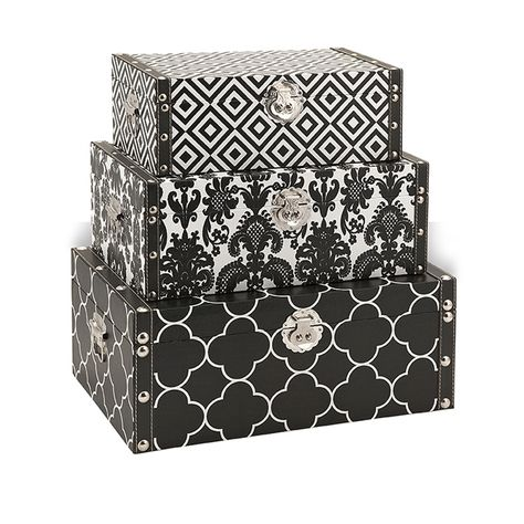 Essentials Storage Boxes Black Bold And Graphic Patterns Wrap