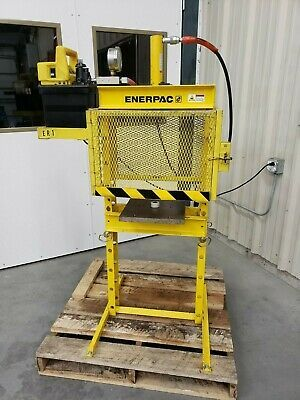 Ad Ebay 10 Ton Enerpac Ram Press W Electric Pump And Safety Door Excellent Condition Hydraulic Ram Hand Pump Really Cool Stuff