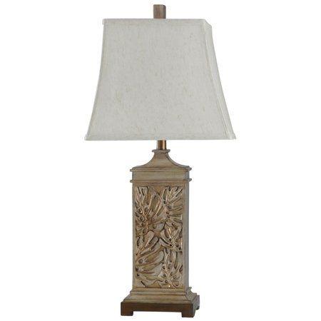 Ariean Table Lamp Off White Shade Brown Walmart Com Brown Table Lamps Lamp Table Lamp