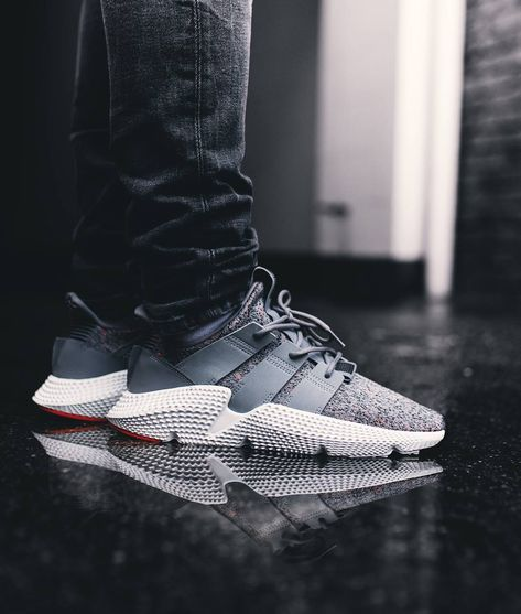 Adidas Prophere Grey White Solar Red