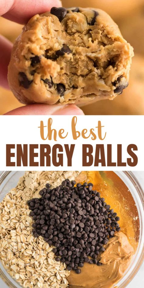 The BEST ever super easy to make protein balls/energy bites. Healthy Sweets, Healthy Eating, Healthy Sweet Snacks, Super Healthy Foods, Healthy Snacks Vegetarian, Healthy Food For Kids, Healthy Supper Ideas, Healthy Breakfast Snacks, Healthy Homemade Snacks