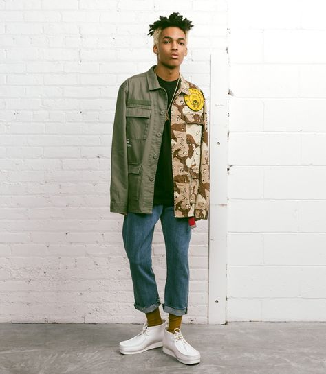 CAMOUFLAGE ASYMETRISCH LONG ARMEE PULLOVER Herren Fashion STYLE PARTY STREETWEAR