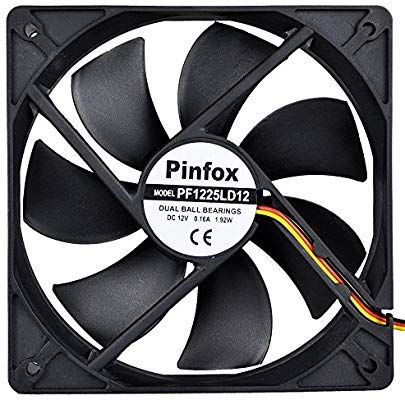 Pinfox 12v Dc 120mm Quiet Cooling Fan Silent Variable Speed Control By 5v To 12v Input Dual Ball Bearings 3 Pin For Computer Case Rv Refrigerator Cooling Fan