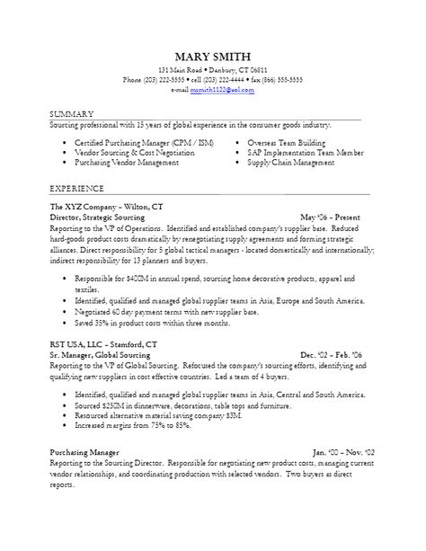 Fantastic Resume Sourcing Tips Sketch Example Business Resume