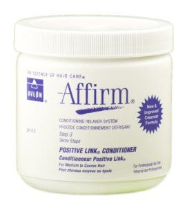 Affirm Positive Link Conditioner by Avlon, 16 Ounce by Avlon. Save 36 Off!. $16.02. Restores hair to ph-balanced state. For medium to coarse hair. Beautifully re-aligns firms and seals cuticles. A post chemical ph normalizer that restores hair to its proper ph of 4.5-5.5 after relAXEr application.