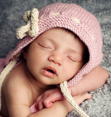 Baby Hat Knitting Pattern Vintage Style Bonnet Pattern Bonnet