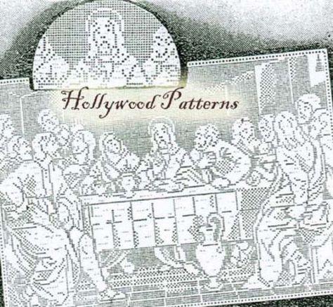 1939 Laura Wheeler The Last Supper Filet Crochet Pattern Reprint